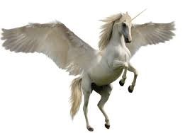 White unicorn with wings